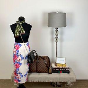 ASOS Floral Print Midi Skirt